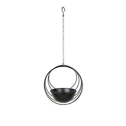 GUOXIANG Macetero colgante de metal para colgar en el techo, con cadena...