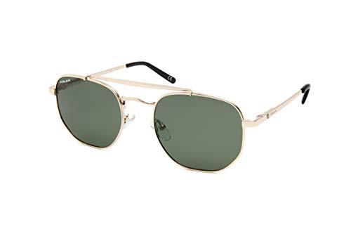 Gafas de sol Slider para mujer, polarizadas, oro con cristal verde