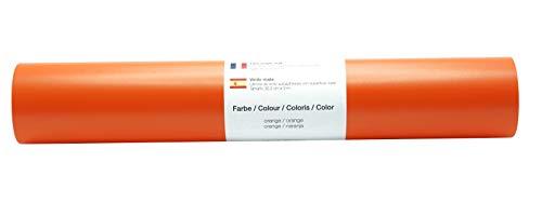 Película autoadhesiva para tatuajes/plotter de pared Película de vinilo mate 30,5 cm x 3 m - selección de color, color: naranja