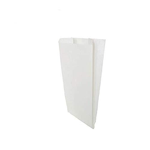 VIRSUS 200 Sacchetti Bianchi in Carta Kraft per Alimenti 14x30 Sacchetto in Carta Kraft Bianco per Alimenti Buste di Carta ideali per Confezionare Pane, Dolci e generi Alimentari