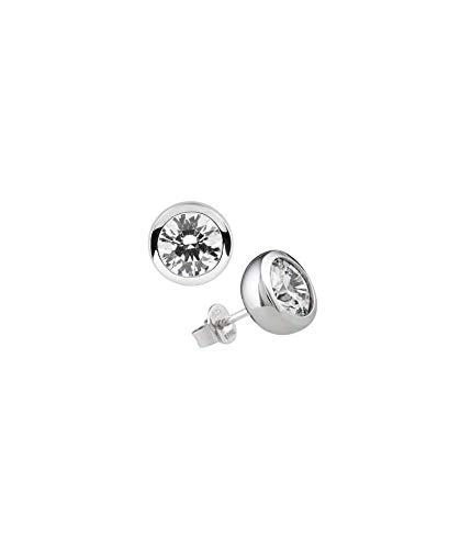Diamonfire Damen-Ohrstecker 925 Sterling Silber Zirkonia Carats Linie weiß 62/1269/1/082