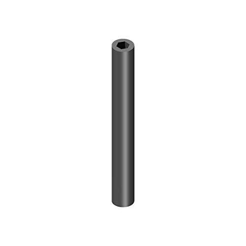 Profilrohr, Aluminium, außen rund Ø 12mm, innen 6 kant SW8, Aluminium, 1000mm