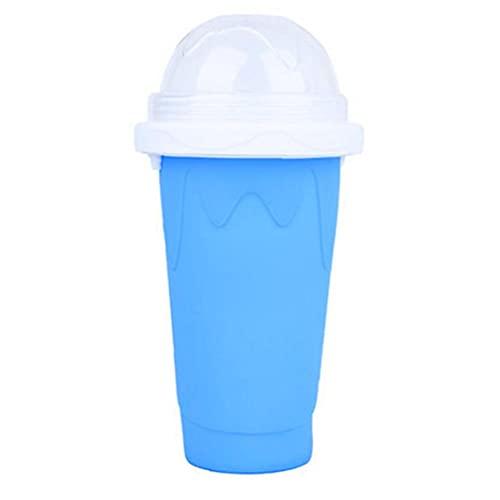 EElabper DIY Slushie Maker Cup, Magic Slushy Maker Squeeze Cup Summer Fast Fast Frozen Cooling Smoothie Pinch Cup Viajes portátiles de Verano