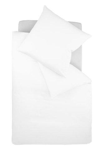 Fleuresse Colours Uni Interlock Jersey Bettwäsche, weiß, 135 x 200 cm