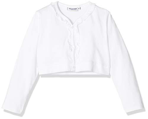 Salt & Pepper Mädchen 03118280 Sweatjacke, Weiß (White 010), (Herstellergröße: 104)