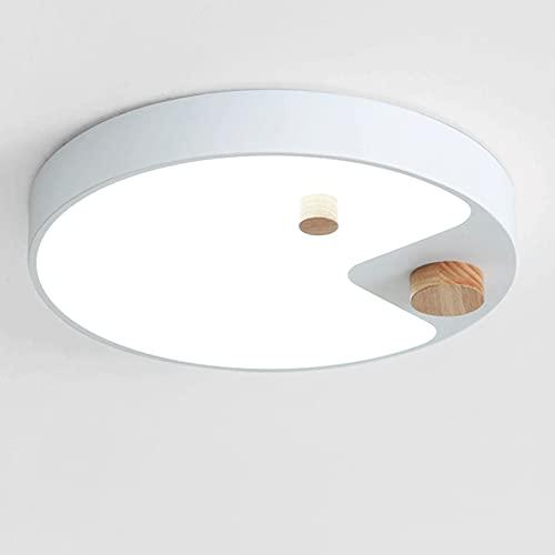 WANGYAN Lámpara De Techo LED Lámpara De Instalación Empotrada Redonda Acrílica Iluminador Redondo Moderno Plano Ultrafino, Luz Cálida para Sala De Estar Y Dormitorio
