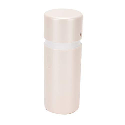 Envase cosmético giratorio al vacío 3 en 1, dispensador de loción para el cuidado de la piel recargable, juego de botellas con etiquetas de categoría, cepillo de limpieza, tapa giratoria para accesori