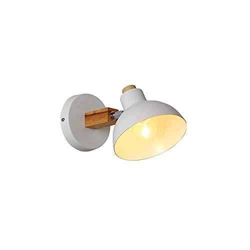 HLY Lámparas simples, luz de pared nórdica Lámpara de pared de hierro industrial E27 Loft Funnel Lámpara de noche Accesorios de iluminación para dormitorio Escalera Camino 1 Lámpara/Diámetro: 10Cm