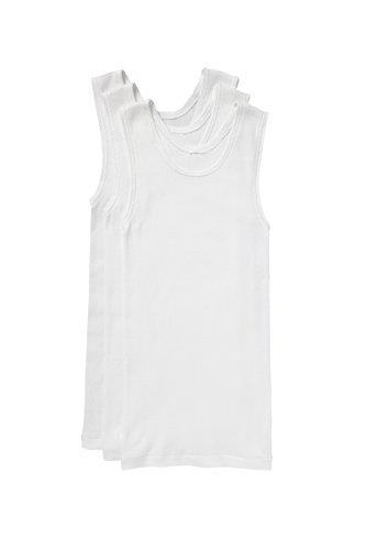 Bonds Boys Underwear Cotton Chesty Singlet (3 Pack), White, 12/14