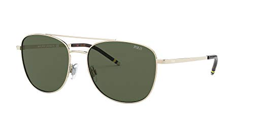 POLO Herren 0PH3127 Sonnenbrille, GOLD/GREEN, 57