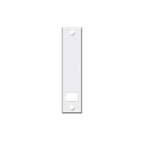 Abdeckplatte (Blende) mit Lochabstand 16 cm eckig weiß - Set 6 Stück jkhandel -