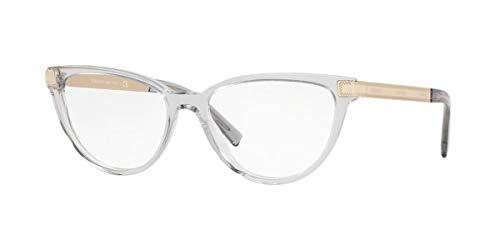 Versace 0VE3271 Monturas de gafas, Transparente Grey, 54 para Mujer