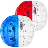 Happybuy 2PCS Inflatable Bumper Ball 5 FT / 1.5M Diameter , Bubble Soccer Ball, Blow Up Toy in 5 Min Inflatable Bumper Bubble Balls for Adults or Children (5 FT, Suite of Blue Red)