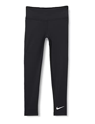 Nike Mädchen Nike One Tight Hw Leggings, Black/(White), 13 Jahre EU