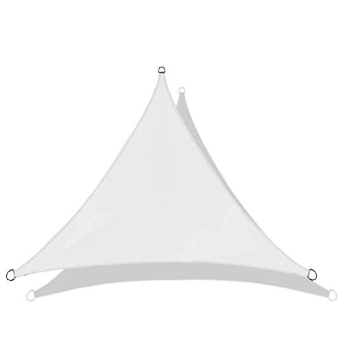 TRITTHOCKER Toldo Triangular al Aire Libre, a Prueba de Agua Tarjetas al Aire Libre Jardín Terraza Piscina Piscina Sombra Vela,Blanco,3 * 3 * 3