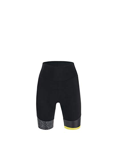 Santini Fahrradbekleidung für Damen, Sommer-Shorts mit Jade und Hip, Schwarz / Weiß, M
