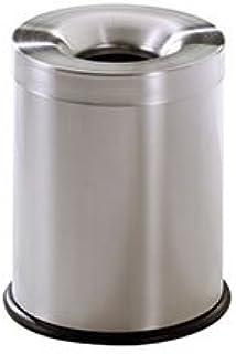 stilcasa Gettacarta Pattumiera autoestinguente Inox Satinato-Litri 15 in Ferro 25x25xh35 Dim