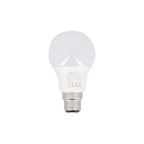 Xanlite PACK2EB806GCW - Lote de 2 bombillas LED A60, B22-10 W Cons (60 W Eq.) - Bombilla estándar para oficina, habitación infantil, adulto, bebé, habitación de luz blanca neutra, 10 W