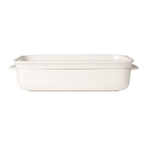 Villeroy & Boch Pasta Passion Lasagne-Form für 4 bis 6 Personen, Premium Porzellan, Weiß