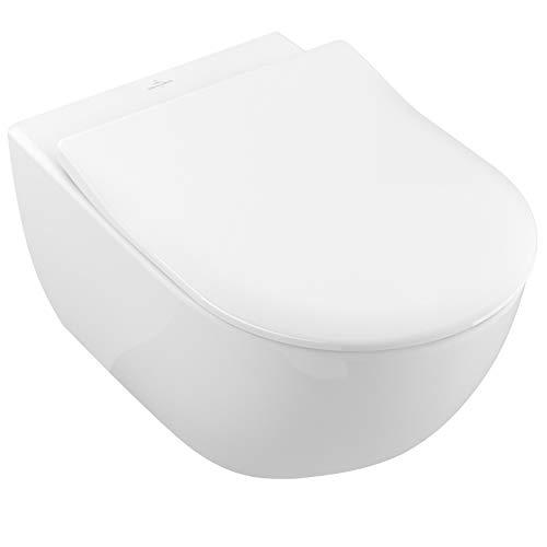 Villeroy & Boch Tiefspül-WC Subway 2.0 Combi-Pack mit WC-Sitz wandhängend spülrandlos