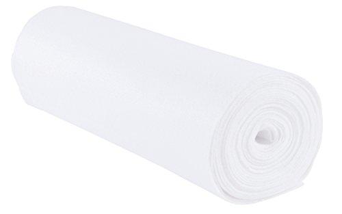 folia 520000 - Bastelfilz, mit feiner Wollqualität, 1 Rolle ca. 45 cm x 5 m, weiß, klebefleckenfreie Verarbeitung - ideal für vielfältige Bastelarbeiten