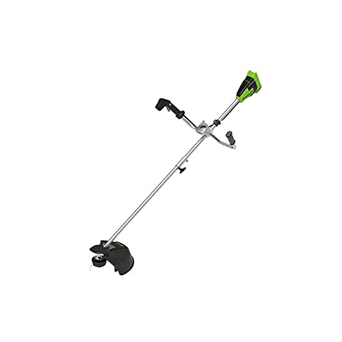 Greenworks Akku-Rasentrimmer GD40BCB (Li-Ion 40V 40cm Schnittbreite 2mm Faden/Messer 6300 U/min Bike handle brushless Motor ohne Akku u. Ladegerät)