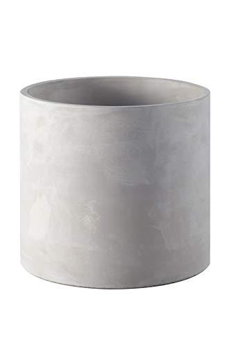 Ekirlin 8'' Flower Plant Pot Indoor - Grey Cement Garden Planter, Modern...