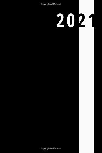 Agenda giornaliera 2021: quaderno / taccuino , nero classico (365 giorni): Notebook   Formato A5   365 pagine a righe PDF Books