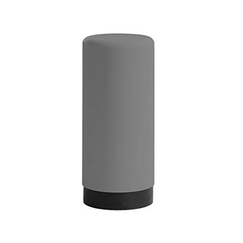 YARNOW Spender Flaschen Leere Silikon Handseife Pumpe Quetschflaschen Duschgel Behälter Shampoo Flüssigkeitsflaschen 400ml Grau