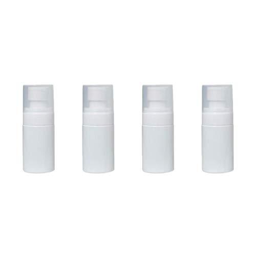 DOITOOL 4Pcs Bouteilles de Pulvérisation de Brouillard en Plastique Transparent Vides Maquillage Contenants Rechargeables Bouteilles D'échantillons pour Liquides Cosmétiques Parfums (30 ML Blanc)