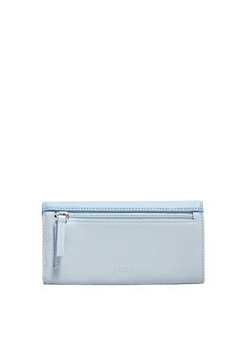 s.Oliver RED LABEL Damen Flap Wallet mit Struktureffekt blue 1