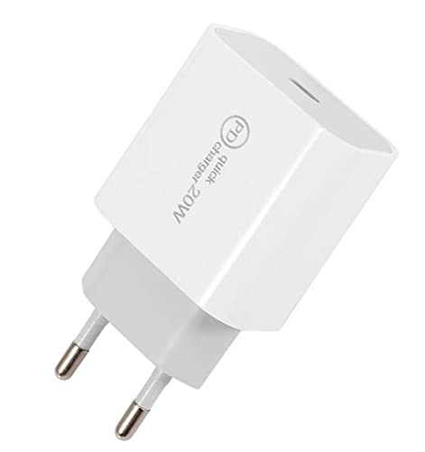 20W PD 3.0 Cargador USB c, Cargador rápido de Pared para iPhone 12/12 mini/12 Pro/12 Pro Max/11 XR XS X, Galaxy, Pixel 4/3, iPad Pro.
