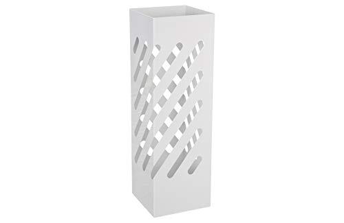 HERSIG - Paraguero Diseño | Paraguero Original de Estilo Moderno con Líneas - Color Blanco