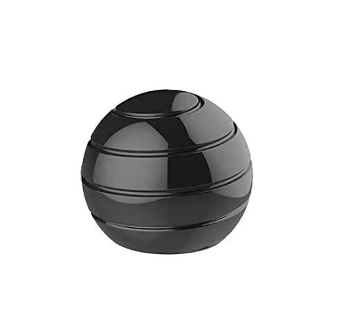 VCOSTORE Juguete cinético, bola de metal, bola de Newton, bola de metal, antiestrés, giroscopio con ilusión óptica, dinámica, para adultos, alivia el estrés (55 mm)