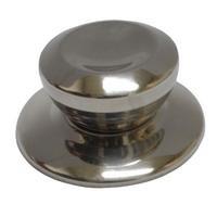 2 x Poignée bouton brillant métal de couvercle de casserole Cuisine ustensiles en métal brillant