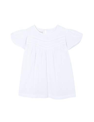 Gocco Mädchen Camisa Blanca Plumeti Bluse, Weiß (Blanco S03cmcca103wa), 9 Jahre (Herstellergröße: T 9-10)