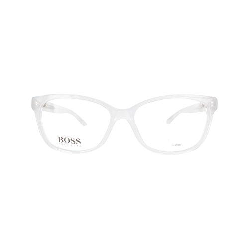Hugo Boss BO-0255-Q9D-19-53-19-135 Orange Rechteckig Brillengestelle 54, Weiß