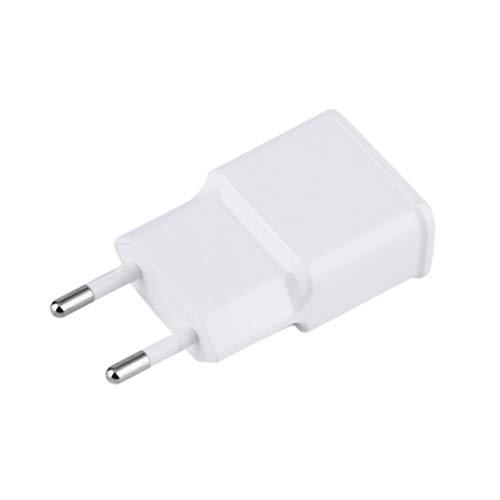 DDyna Cargador de Pared de CA Adaptador de Corriente para Tableta 5V 2A Dual USB 2-Port Travel Charging EE. UU. para teléfono móvil PC Blanco Enchufe EE. UU./ UE - Blanco