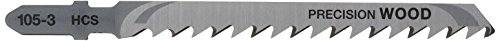 DEWALT DT2049-QZ - Hoja de sierra de calar HCS, longitud: 100mm, paso de diente: 4mm, para cortes muy rectos limpios en madera y aglomerado de hasta 60mm de espesor (hoja extragruesa)
