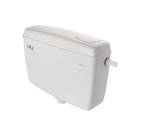PARRYWARE CERA CAB RINA-B1010107 10 L Plastic Side Handle Flush Tank (White, Medium)