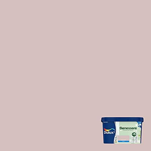Dulux Benessere Pittura Colorata all Acqua per Interni Superlavabile Anti Muffa Anti Batteri con Ioni D Argento, 2.5 Litri, Rosa Polvere