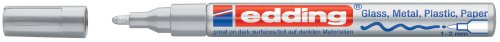 Edding 4-751-9-054 Glanz-Lack-Marker, Rundspitze silber