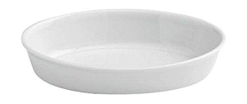 Tognana 28 x 18 x 6 cm-PL-Cook Plat de Cuisson Ovale, Blanc