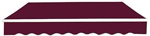 LanXin Reemplazo de toldo Tela de la Cubierta Superior Frontal Valance Amarillo-Raya, Nombre de Color: Amarillo-Raya (Tamaño Personalizable) (Color : Wine Red)