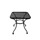 Shop Garden Treasures Davenport 18-in W x 18-in L Square Steel End Table at Lowes.com