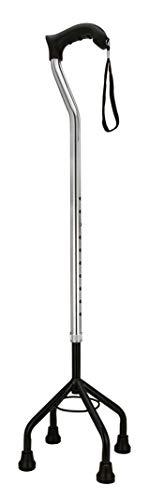 ELKO Quadripod Height Adjustable Aluminium Walking Stick - Universal (Silver/Black)