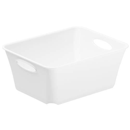Rotho Living kleine Aufbewahrungsbox/Dekobox, Kunststoff (PP), Weiß, C7 / 0,5 l (14,6 x 11,4 x 6 cm)