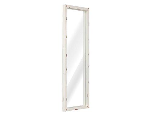 massivum Spiegel Charley 150x50x5 cm Mango weiß lackiert