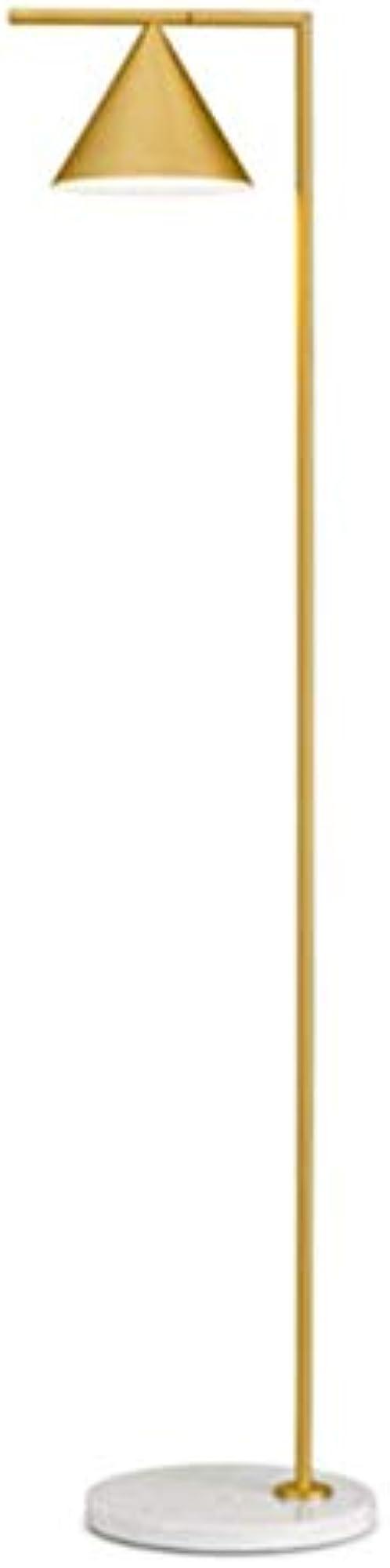 Flos captain flint led lampada da terra ottone spazzolato/marmo bianco F1530059