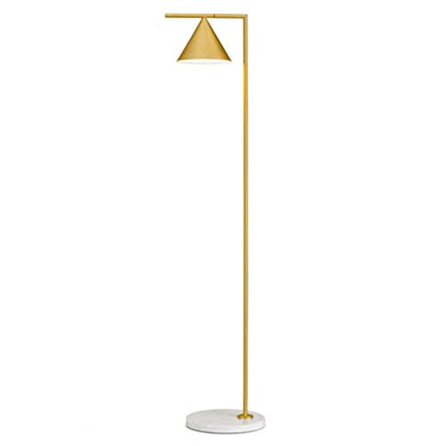 Flos Captain Flint LED vloerlamp geborsteld messing/marmerwit